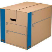 "Fellowes 0062901 Smoothmove™ Moving & Storage, Large Box, 25""L x 18-1/4""W x 19""H, Kraft/Blue - Pkg Qty 6"