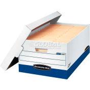 "Fellowes 0063201 Presto™, 24"" Legal Box, 25-3/8""L x 16""W x 10-1/2""H, White/Blue - Pkg Qty 12"