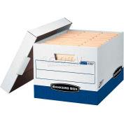 "Fellowes 0063601 Presto™, Letter/Legal Box, 16-1/2""L x 12-7/8""W x 10-3/8""H, White/Blue - Pkg Qty 12"