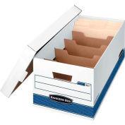 Fellowes 0083101 Stor/File™ Dividerbox™, Letter Box, 25-3/8x12-7/8x10-1/4, White/Bl - Pkg Qty 12