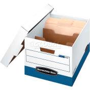 Fellowes 0083601 R-Kive® Dividerbox™, Letter Box, 16-1/2x12-3/4x10-3/8, White/Blue - Pkg Qty 12