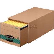 Fellowes 1231201 Stor/Drawer® Steel Plus™, Legal Box, 16-3/4x25-1/2x11-1/2, Kraft/Grn - Pkg Qty 6
