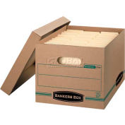 Fellowes 1277601 Recycled Stor/File™, Letter/Legal Box, 12-1/2x16-1/4x10-1/2, Kraft/Green - Pkg Qty 12