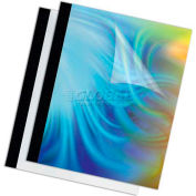 "Fellowes® Thermal Presentation Covers - 1"", 240 Sheets, Black, 10/PK - Pkg Qty 5"