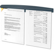 "Fellowes® Partition Note Rail, 18""L x 1-15/16""H, Dark Graphite"