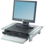 Fellowes® 8031101 Office Suites™ Monitor Riser, Black/Silver - Pkg Qty 2