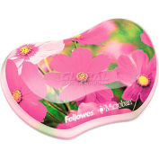 Fellowes® Photo Gel Utility Wrist Rest Microban® Protection, Pink Flowers Design - Pkg Qty 4