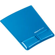 Fellowes®  Mouse Pad/Wrist Support With Microban® Protection - Blue Gel - Pkg Qty 4