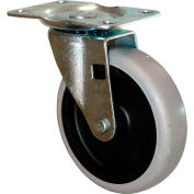 "Rubbermaid® 4"" Swivel Plate Caster with Hardware for Standard Duty Tilt Trucks"