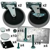 Rubbermaid® Caster Kit for Rubbermaid® Max System™ Rack Kit