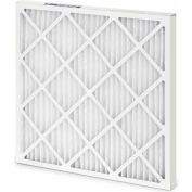 """Global Industrial™ Standard Capacity Pleated Air Filter, MERV 8, Wire Backed, 20""""Wx20""""Hx1""""D - Pkg Qty 12"""