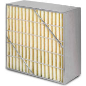 """24""""W x 24""""H x 12""""D Rigid Cell MERV 15 Air Filter Box - Synthetic - Global Industrial™"""