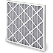 "Global Industrial™ High Capacity Carbon Pleated Air Filter, MERV 10, 12""Wx12""Hx1""D - Pkg Qty 12"