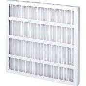 """Global Industrial™ High Capacity Pleated Air Filter, MERV 8, Self-Supported, 24""""Wx20""""Hx2""""D - Pkg Qty 12"""