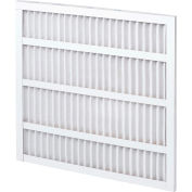 """Global Industrial™ Standard Capacity Pleated Air Filter, MERV 8, Self-Supported, 16""""W x25""""Hx1""""D - Pkg Qty 12"""