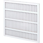 "Global Industrial™ Standard Capacity Pleated Air Filter, MERV 8, Self-Supported, 20""W x20""Hx1""D - Pkg Qty 12"
