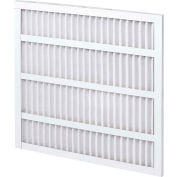 """Global Industrial™ Standard Capacity Pleated Air Filter, MERV 8, Self-Supported, 24""""Wx20""""Hx1""""D - Pkg Qty 12"""