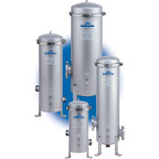 Band Clamp Multi Cartridge Filter Housing- 4 Filter Capacity, 10-1/4 Dia x 10H, 2MNPT Connection