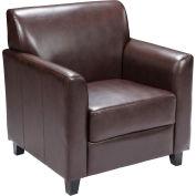 Leather Guest Chair - Brown - Hercules Diplomat Series