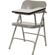 Premium Steel Folding Chair with Left Handed Tablet Arm - Beige