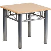 Flash Furniture Natural Laminate End Table - Silver Steel Frame