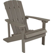 Flash Furniture Charlestown All-Weather Adirondack Chair - Light Gray Faux Wood
