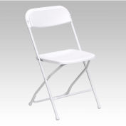White Plastic Folding Chair, 800 lbs. Capcity - Pkg Qty 10