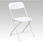 Flash Furniture Plastic Folding Chair - White - Pkg Qty 10