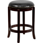 Flash Furniture Counter Height Stool - Leather - Black