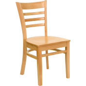 Flash Furniture Ladder Back Restaurant Chair - Natural Wood - Hercules Series