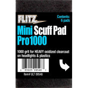 """Flitz Mini Scuffpads 2-3/4"""" X 4-1/2"""" Banded, 1000 Grit 6/Pk - ULT 09548"""
