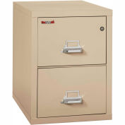 """Fireking Fireproof 2 Drawer Vertical File Cabinet - Letter Size 18""""W x 31-1/2""""D x 28""""H - Putty"""