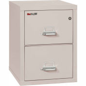 "Fireking Fireproof 2 Drawer Vertical File Cabinet - Legal Size 21""W x 25""D x 28""H - Light Gray"