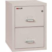 """Fireking Fireproof 2 Drawer Vertical File Cabinet - Legal Size 21""""W x 25""""D x 28""""H - Light Gray"""