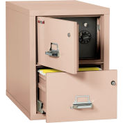 """Fireking Fireproof 2 Drawer Vertical Safe-In-File Legal 20-13/16""""Wx31-9/16""""Dx27-3/4""""H Champagne"""