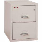 """Fireking Fireproof 2 Drawer Vertical File Cabinet - Legal Size 21""""W x 31-1/2""""D x 28""""H - Light Gray"""