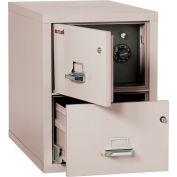 "Fireking Fireproof 2 Drawer Vertical Safe-In-File Legal 20-13/16""Wx31-9/16""Dx27-3/4""H Platinum"