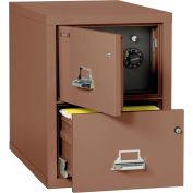 "Fireking Fireproof 2 Drawer Vertical Safe-In-File Legal 20-13/16""Wx31-9/16""Dx27-3/4""H Tan"