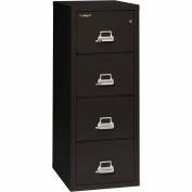 "Fireking Fireproof 4 Drawer Vertical File Cabinet - Letter Size 18""W x 25""D x 53""H - Black"