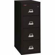 "Fireking Fireproof 2 Drawer Vertical File Cabinet - Letter Size 18""W x 31-1/2""D x 53""H - Black"