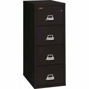 "Fireking Fireproof 4 Drawer Vertical File Cabinet - Letter Size 18""W x 31-1/2""D x 53""H - Black"