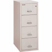 "Fireking Fireproof 4 Drawer Vertical File Cabinet - Letter Size 18""W x 31-1/2""D x 53""H - Light Gray"
