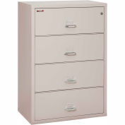 "Fireking Fireproof 4 Drawer Lateral File Cabinet Letter-Legal Size 37-1/2""W x 22""D x 28""H - Lt Gray"