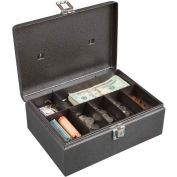 Hercules CB1108 Cash Box Keylock 7 Compartments Lift Out Tray
