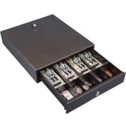 Hercules CD1314 Compact Cash Drawer Keylock Tray with 4 Bill & Fixed Coin Compartment