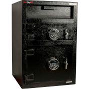 "FireKing Mail Box Drop Safe MB3020-FK1 20""W x 20""D x 30""H Electronic Lock 1.35 Cu. Ft. Black"