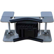 """Stainless Steel Bench Mount Bracket, 8""""W x 4-1/4""""D x 4-1/4""""H, 1 Cylinder Capacity"""