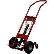 "Justrite® 1 Cylinder Caddy 4 Wheel G-2000 - 10-1/2"" Pneumatic Wheels - 1000 Lb. Cap."