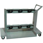 """First Safety 6 Cylinder Wheeled Cart G-630, 55""""W x 24""""D x 37""""H, 490 Lb. Capacity"""