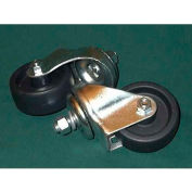 "3"" Post Swivel Caster Set G-903CS for Justrite® 8"" and 10.5"" Main Wheel Trucks"